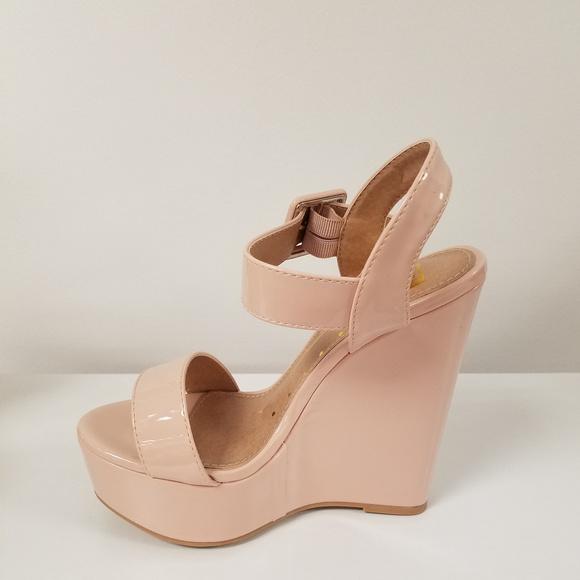0d736e96e20 Blush Pink Platform Wedge Sandals